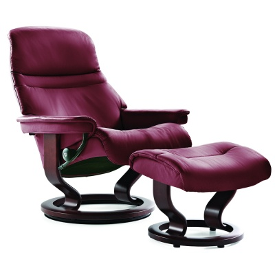 Stressless Sunrise Recliner - Burgundy
